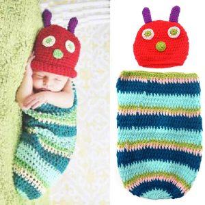 Caterpillar-Style Newborn Handmade Crochet