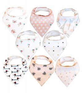 Baby Drool Bibs Gift Set
