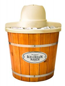 Nostalgia Electric Wood Ice-cream Maker