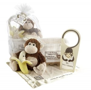 Baby Aspen Gift Set with Five Little Monkeys and a Keepsake