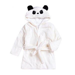 Panda hooded bath robe
