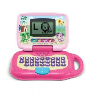 Pink laptop toy
