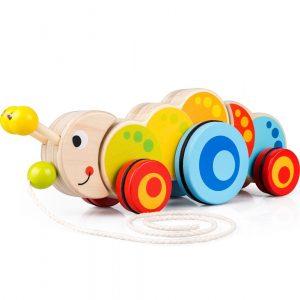 Caterpillar pull toy