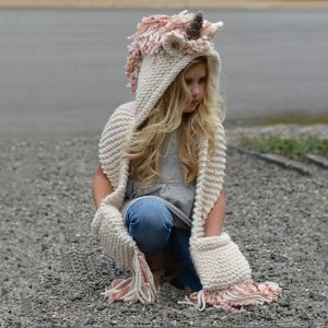 Union hooded scarf hat