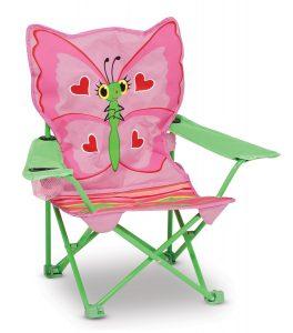 Folding butterfly lawn chair