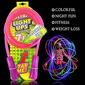 LED light up jumping rope