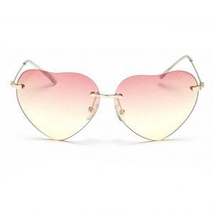 Heartshaped wayfarer framed sunglasses