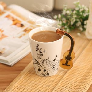 For All The Friends Who Are Great Music Lovers This Mug Is Specially Designed Them Cup Comes With Different Musical Notes Patters On It A