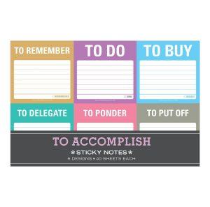 To accomplish sticky notes