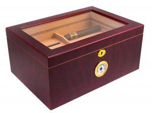 Cigar Desktop Humidor Glasstop