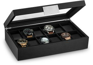 Glenor Co watch Box For Man- 12 Slots