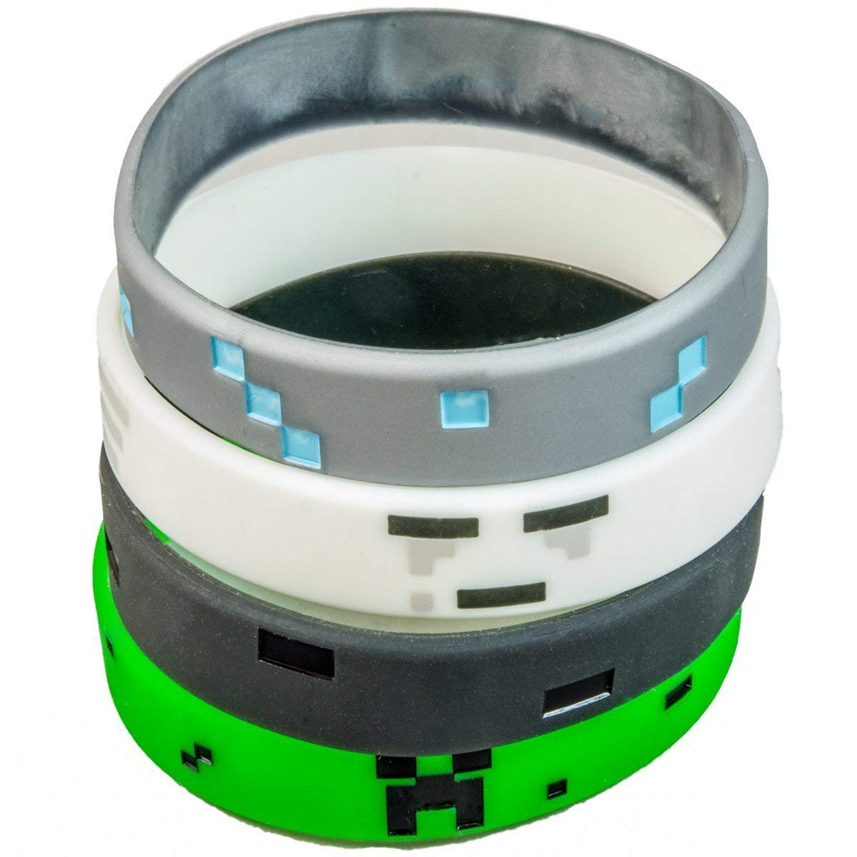 Pixelated video game styled wristbands