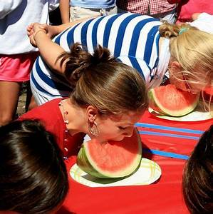 Go for a fruit eating competition