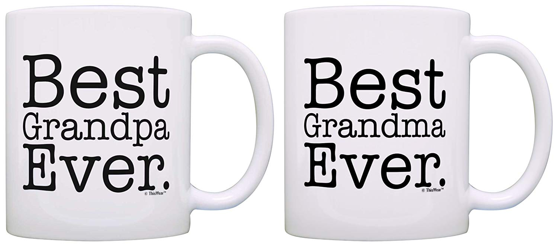 Best grandma and grandpa anniversary coffee mugs