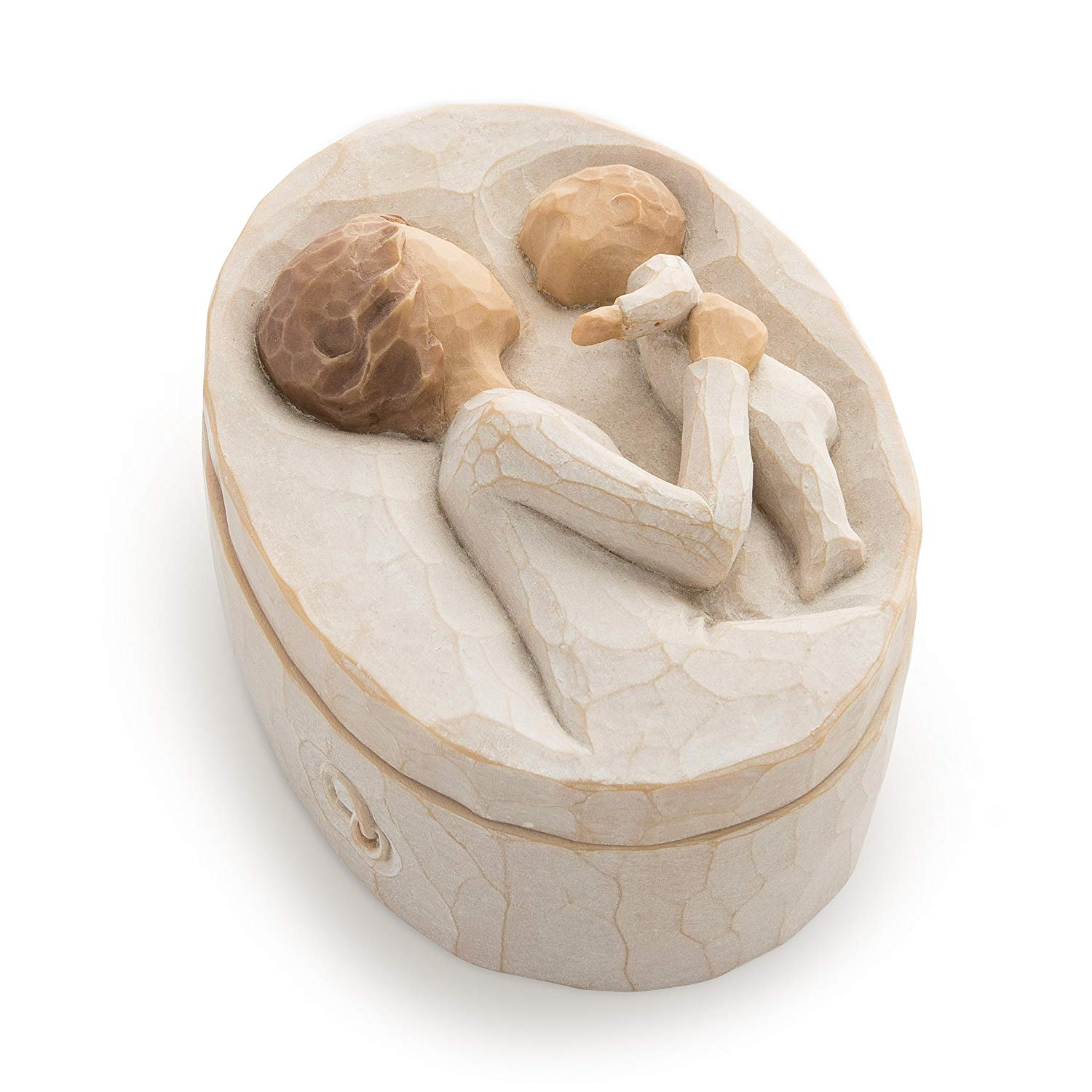 Willow tree hand painted and sculpted keepsake box