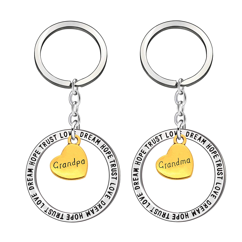 Keychain ring set for grandparents