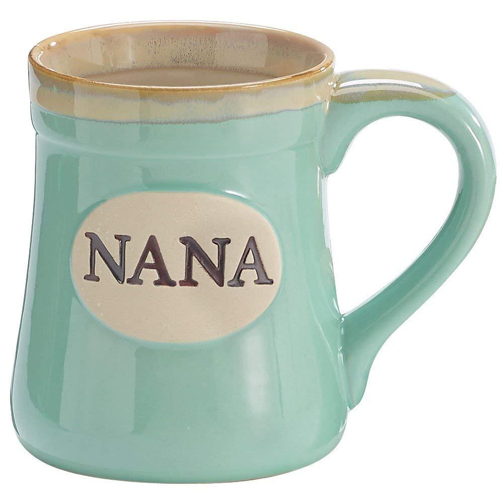 The Nana porcelain aqua coffee and tea mug