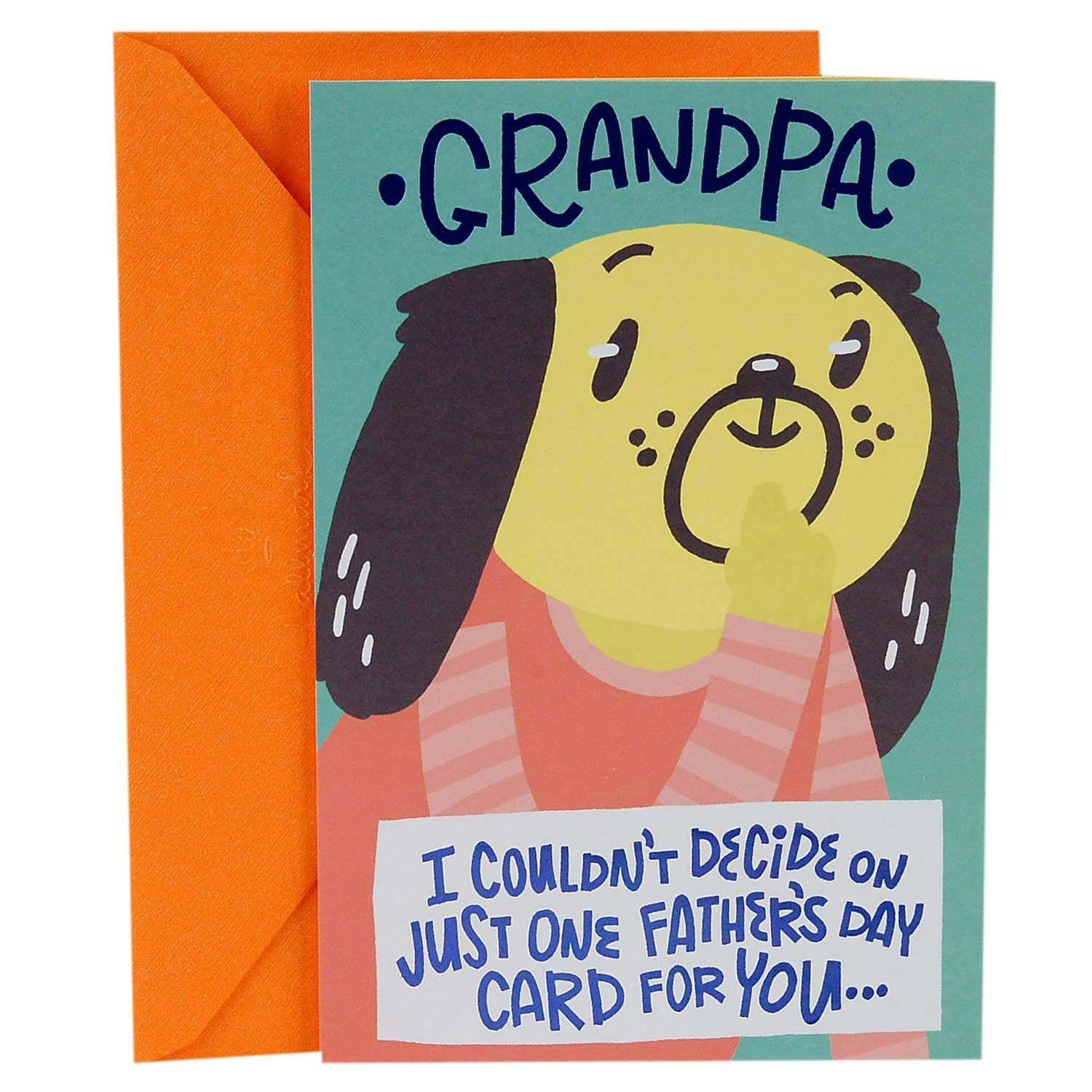Greeting card for grandpa