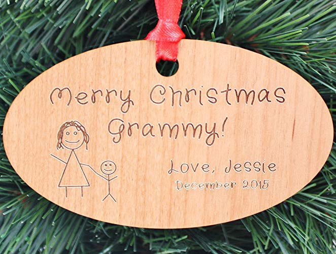 Custom christmas ornament for grandparent