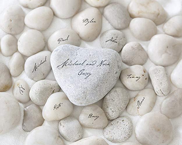 Personalised art print family name stones