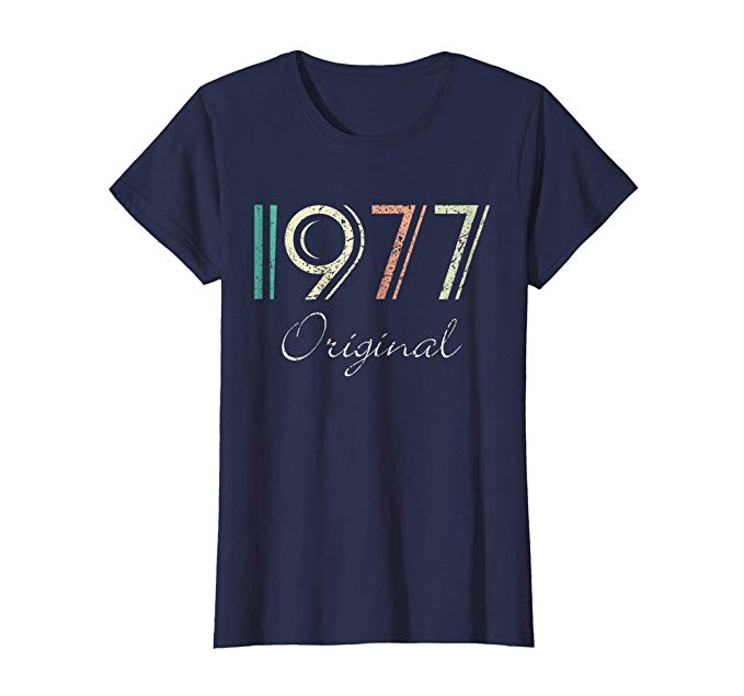Retro colored vintage T Shirt for her