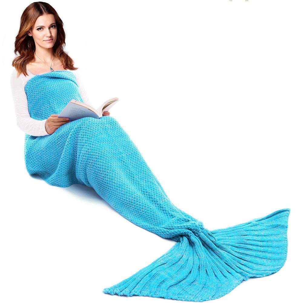J.R. colored mermaid tail blankets