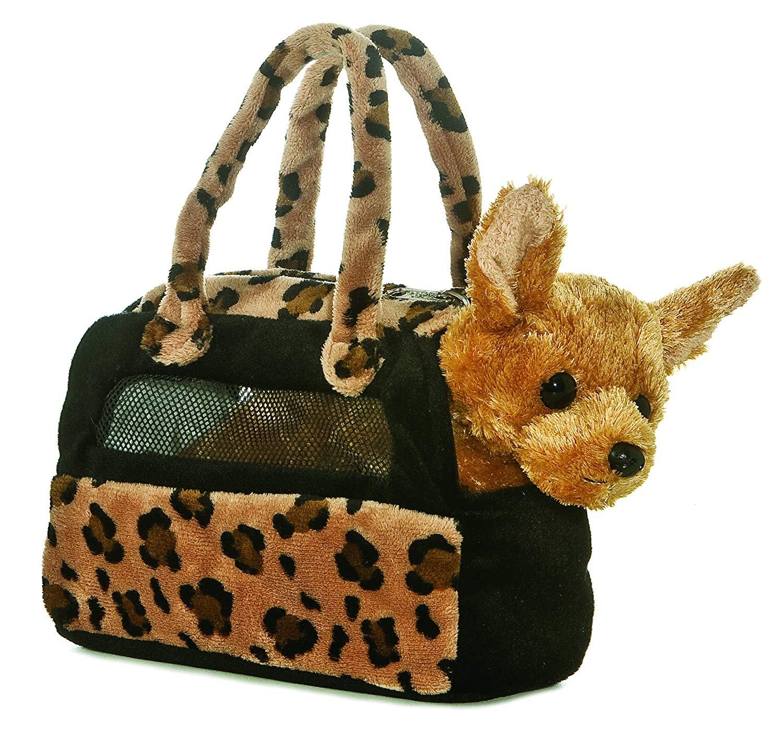 Aurora World Fancy Pals plush purse pet carrier