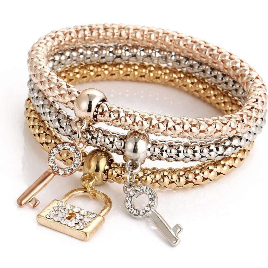 BEUU tricolor popcorn chain charm women's bracelet