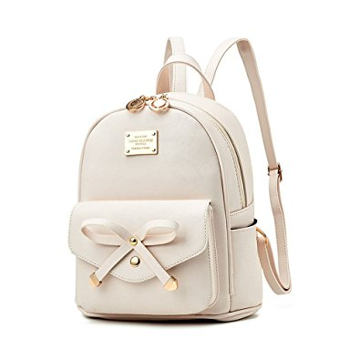 Fayland girls bowknot mini leather backpack purse