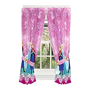 Disney Frozen Printed Curtains For Girls Room