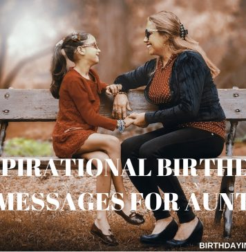 BIRTHDAY MESSAGES FOR AUNT