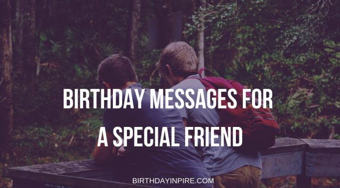 Birthday Messages For A Special Friend