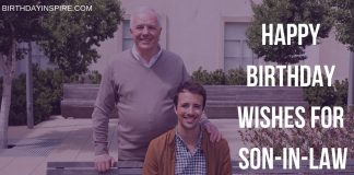 Birthday Wishes For Son-in-law